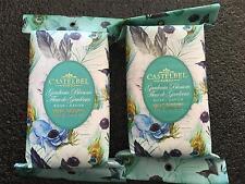 2 Castelbel Luxurious Scented Bath Bar Soap Gardenia Flower Gift Peacock Paper