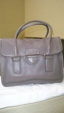 $3,100 Prada Gray/Gold Calfskin Leather bag WOB ABSOLUTELY GORGEOUS!