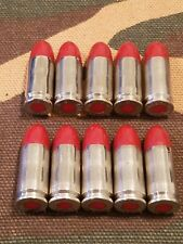 9MM LUGER SNAP CAPS  SET OF 10 (RED+NICKEL)