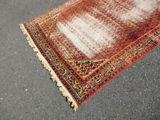 Antique rug Persian Hamedan carpet lovely distressed ca.1920s WORN 4.6 x 6.10