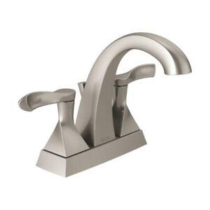 Everly 4 in. Centerset 2-Handle Bathroom Faucet in SpotShield Brushed Nickel