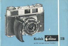 Kodak Retina IB Instruction Manual 1960