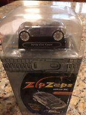 "Zip Zaps Micro Rc Radio Control Car Black Honda Civic Coupe ""RARE"