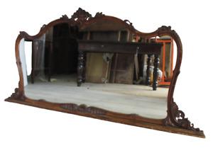 Specchiera in legno intagliato -  primi 900 - specchio - cornice - ideale shabby