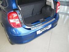 Rear Bumper Protector Stainless Steel Scuff Plate fit Nissan Micra K13 5D 2010-
