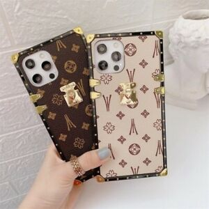 Luxury Geometric Square Phone Cover Case For iPhone 11 12 Pro XS 7 8