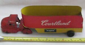 1950's Wyandotte Truck Cab & Courtland Tin Toy Trailer