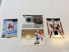 LOT OF 4 HOCKEY JERSEY AUTOGRAPH CARD PHANEUF BOOGAARD RIBEIRO REICHEL