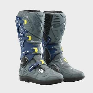 NEW 2021 Sidi Husqvarna Crossfire 3 SRS Motorcycle Boots MX Offroad Size 9.5