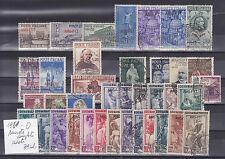 ITALIA 1950-TRIESTE A  ANNATA COMPLETA 39 VALORI USATI SELEZIONATI E SPLENDIDI