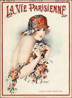 1924 La Vie Parisienne Premieres Fleurs France Travel Advertisement Poster Print
