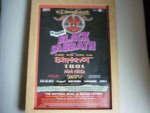 Black Sabbath, Ozz fest 2001, festval flyer from magazine