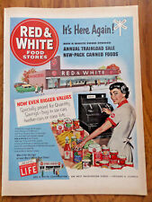 1953 Red & White Food Stores Ad  Annual Trainload Sale New Pack Canned Foods