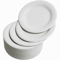 """1000 White Disposable Paper Plates 6""""/7''/ 9"""" perfect for BBQ, parties, Outdoor"""