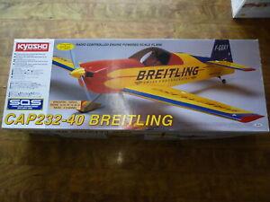 Kyosho Cap 232-40 Breitling 1400MM Balsa ARF-NITRO POWERED R/C READY BUILT BALSA