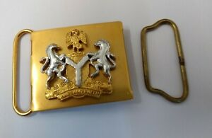 Genuine Nigerian Military Coat of Arms Insignia Belt Buckle And Fitting MXR02