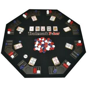 Texas Traveler Table Top 300 Chip Set Poker Game Full Size Play Folding Tabletop