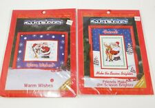 New listing Lot of 2 Christmas Matters Cross Stitch Kits Santa Snowman