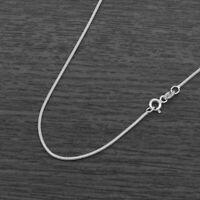 Genuine 925 Sterling Silver 1.2mm Real Snake Chain Anklet (25cm)