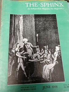 Tent Show Trickery Tommy Winsdor Issue 1948 Sphinx Magazine Vol.47 No.4