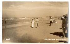 RPPC,real photo,beach,ocean fun,sailor,Miramar,Tampico Mexico.Desentis Jr.photo