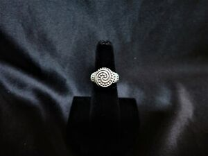 Authentic James Avery 925 Sterling Silver African Beaded Swirl Ring Size 6 w/Box
