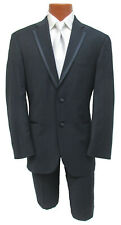 Men's Navy Blue Calvin Klein Tuxedo with Pants Cruise Wedding Prom 52L 46
