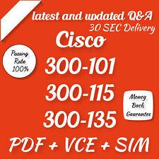 Cisco CCNP 300-101 300-115 300-135 Roting Switching Exam Q&A Test PDF & Sim