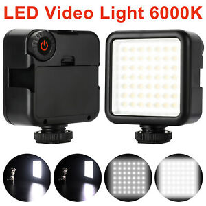 LED Video Fill Light Dimmable Lamp Panel for DSLR Camera Camcorder +3 Shoe Mount
