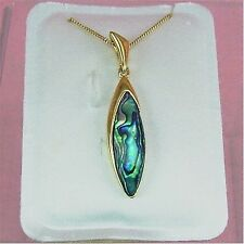 Paua Jewelry - Gold Plated Drop Necklace (PGP546)
