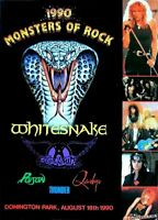 Monsters Of RocK Concert Poster STICKER  U2 Black Sabbath Iron Maiden Stones