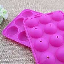 Silicone Cake Pops Mold Round Circle Lollipop Chocolate Baking Mold Tools Ornate