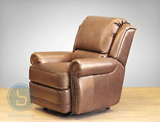 Vintage Barcalounger Regency II Manual Recliner Chair Tri-Tone Metallic Leather