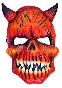 Red Devil Halloween Mask Demon Satan Half Mask EVA/PU Foam Costume Accessory