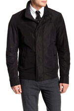 $395 Hugo Boss Chaymen Casual Jacket 44R Black Water Resistant Stand Collar NWT
