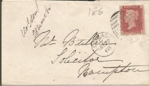 GB QV 1868 COVER PENNY RED 'JA' PL86 FROM LECHDALE TO BAMPTON 27TH MARCH 1868.