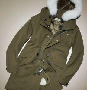 $1400 COACH, Men's Military Icon Parka Jacket w/ Removable Vest, Size 48 M/L