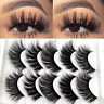 5 Pairs 100% Real 3D Mink Makeup Cross False Eyelashes Eye Lashes Handmade Thick