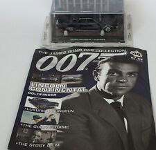 James Bond 007 Diecast Car Collection  Lincoln Continental Goldfinger 48 New