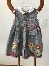 Vintage Baby togs toddler girls Black & White Checked dress size 2T