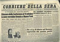 CORRIERE DELLA SERA 25 SETTEMBRE 1946 GIORNALI DELLA REPUBBLICA