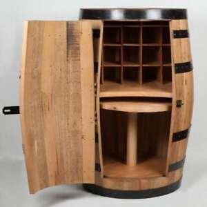 Whiskey Barrel Mini Bar Antique Furniture wine rack and lazy susan (bottom)