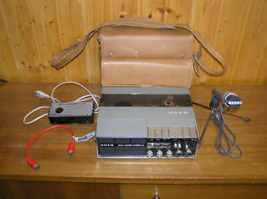 UHER 4400 Report Stereo IC Tonbandgerät mit Tasche, Netzteil, Mikrofon, Stativ