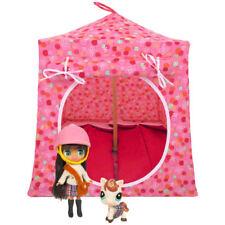 Light pink, dot & flower print Toy Play Pop Up Tent, 2 Sleeping Bags, handmade