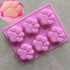 6PC Paw Cake Baking Silicone Paw Cat Mould Mould Jelly  Dog Cookie Chocolate