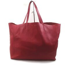CELINE Tote Bag Cavas Reds Leather 1516998