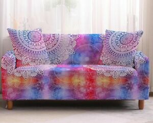 Polyester Sofa Covers 2 3 4-Seater Sofa Slipcovers Vintage Stretch Pillow Covers
