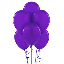 """72 Latex Balloons 12"""" With Clips and Curling Ribbon-Purple"""