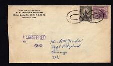 1934.11.13 registered letter from Fairfield, Iowa, to Chicago, special postmark