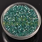 New 200pcs 3mm Bicone Faceted Crystal Glass Loose Spacer Beads Peacock Green AB